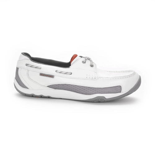 Barefoot Boat 2 Eye Men's Boat Shoes in White